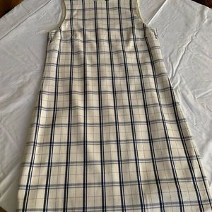 Theory fitted checked dress
